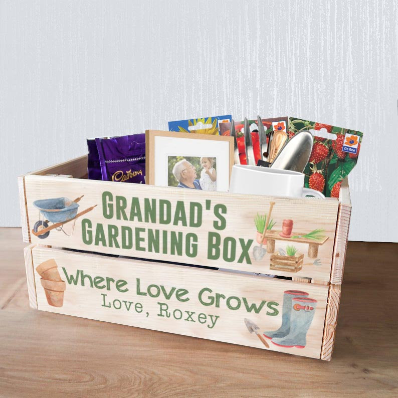 Grandad Garden Gifts For Fathers Day / Gardening Gifts For Grandad / Grandad Seed Box