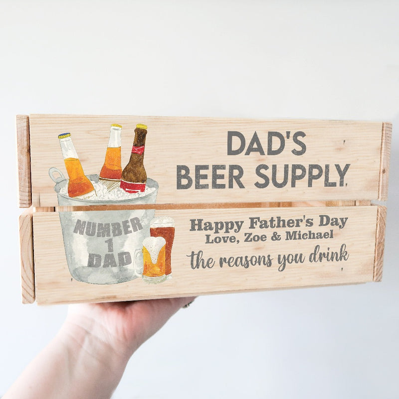 Dad Beer Hamper / Personalised Beer Crate / Fathers Day Gift Ideas For Dad