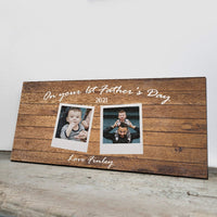 First Fathers Day Gift - Photo Gifts For A New Daddy - On Your 1st Fathers Day