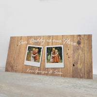 Fathers Day Gift Personalised - Daddy Hero Photo Sign - Our Daddy Is Our Hero