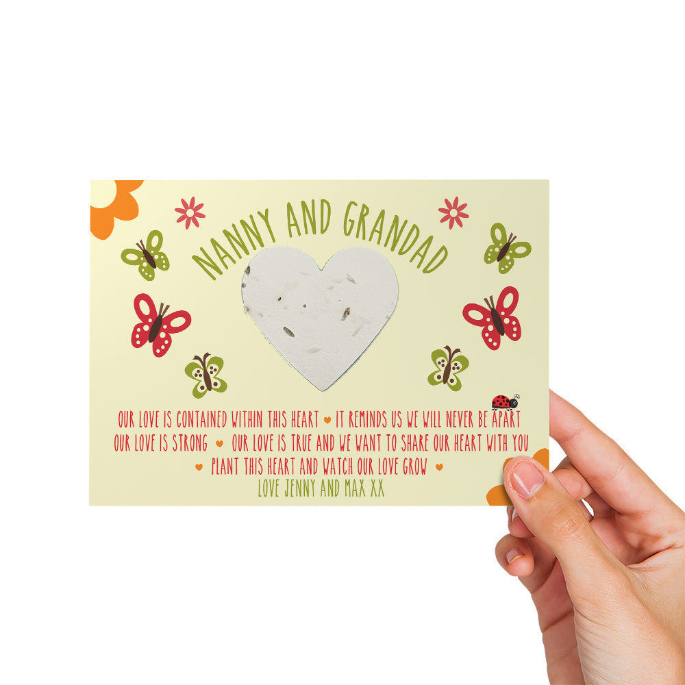 Personalised Flower Heart - Our Love Is Contained Within This Heart