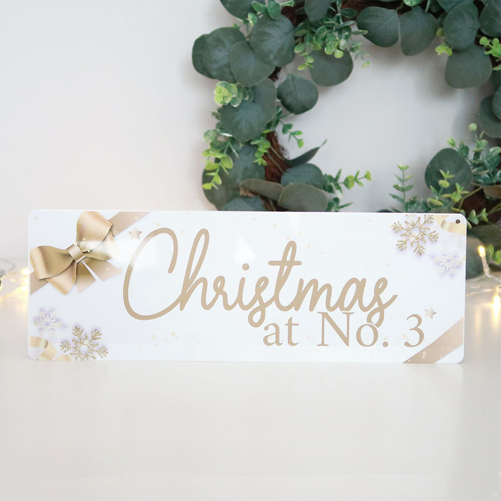 Personalised Christmas sign -TheGreenDovecote