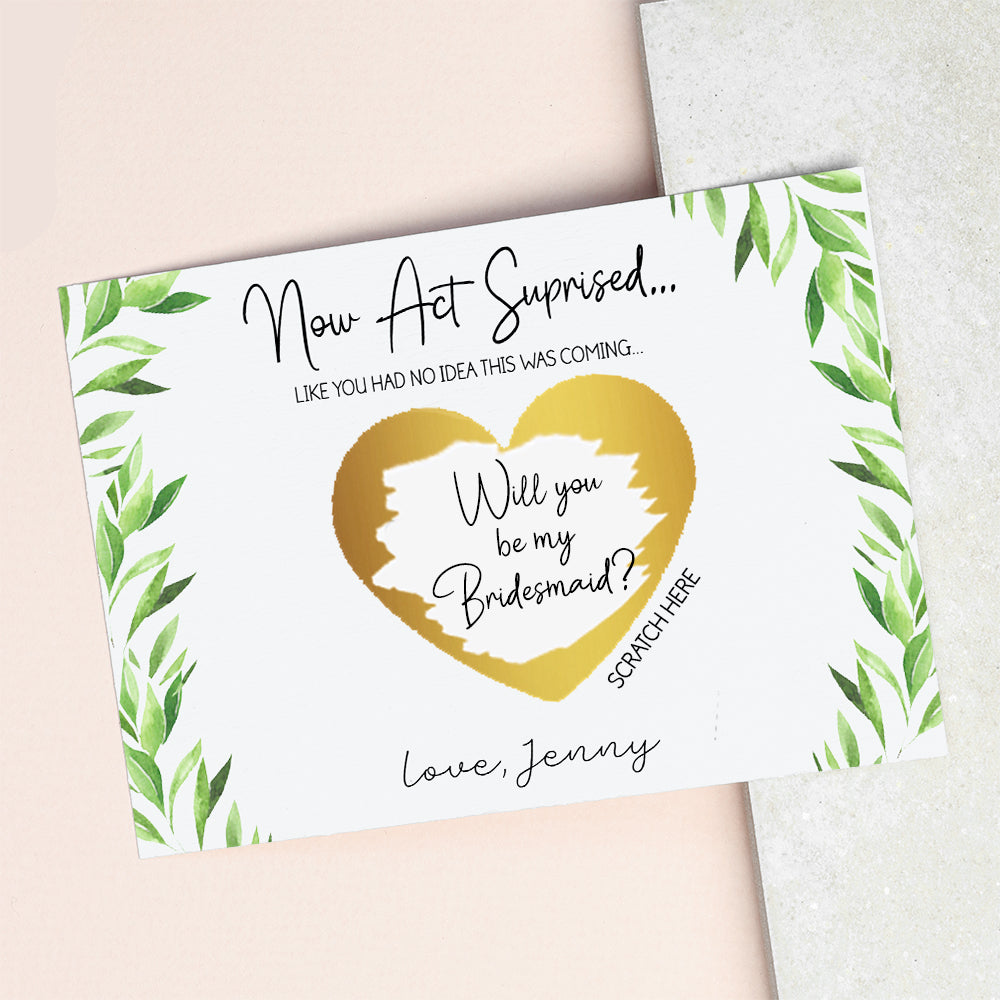 Scratch Off - Bridesmaid Proposal Gift - Will You Be My Bridesmaid?