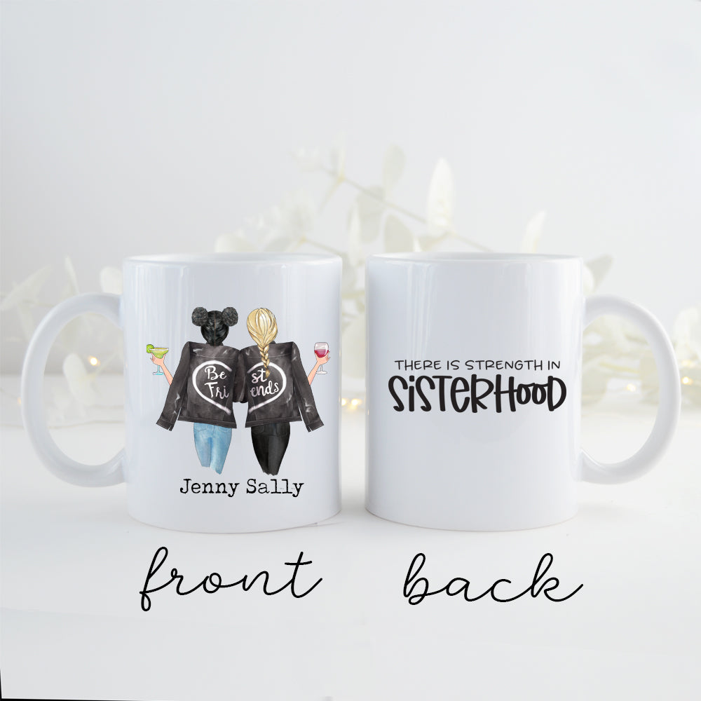 TheGreenDovecote _ Personalised Mug - Two Sisters. There Is Strength In Sisterhood