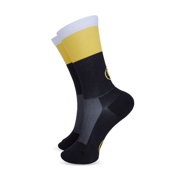 Mondrian vs Art Deco Yellow Socks