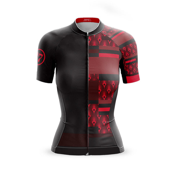 Womens Mondrian vs Art Deco Red Jersey