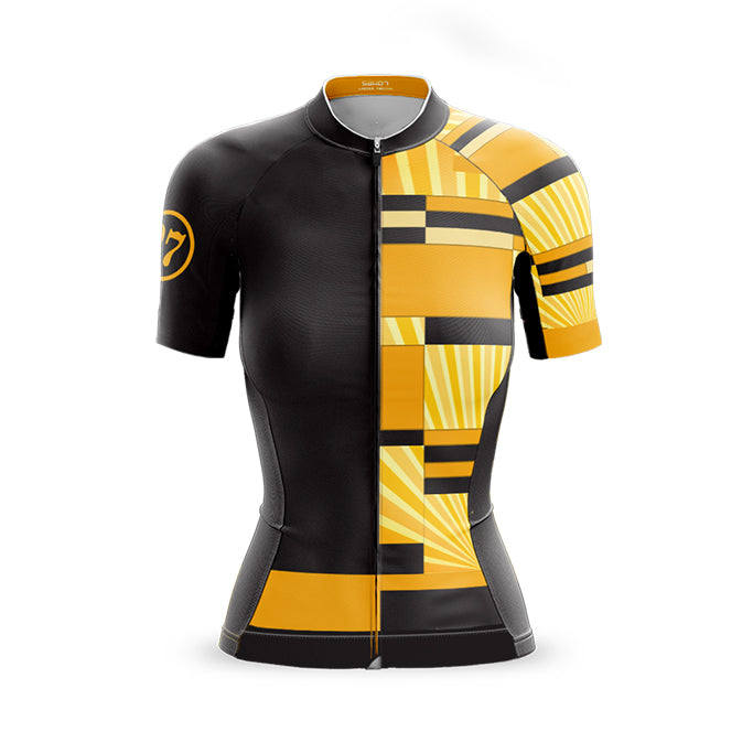 Womens Mondrian vs Art Deco Yellow Jersey