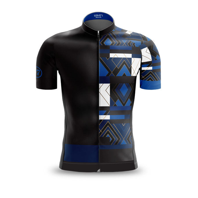 Mens Mondrian vs Art Deco Blue Jersey