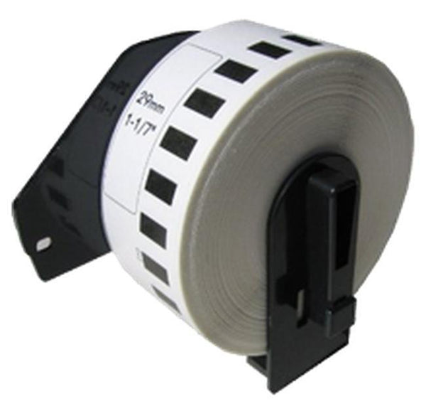 BROTHER DK-2210 Die-Cut Continuous Length Paper Tape Black on White WITH CARTRIDGE-Ink Toner Shop