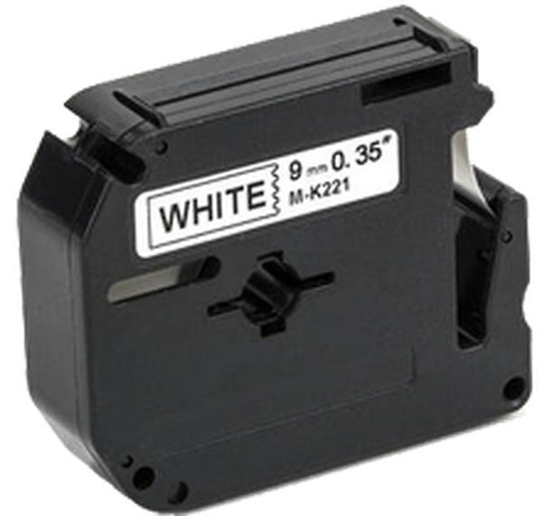 "BROTHER P-Touch Label Tape MK221 - 0.375"" x 26.2' - Black on White-Ink Toner Shop"