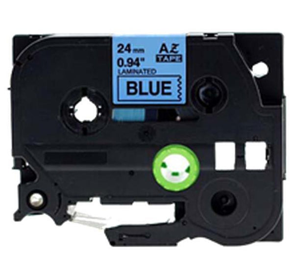 "BROTHER P-Touch Label Tape TZE-551 24mm (1"") Black on Blue-Ink Toner Shop"