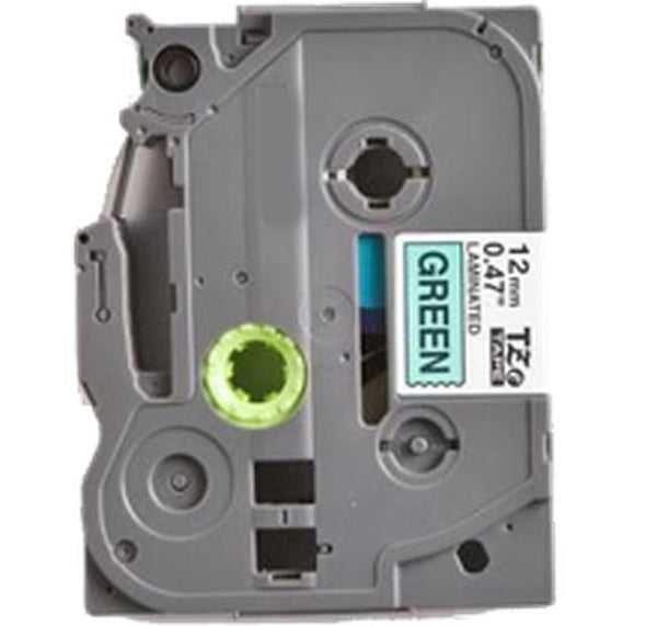 "BROTHER P-Touch Label Tape TZE-731 12mm (0.47"") Black on Green-Ink Toner Shop"