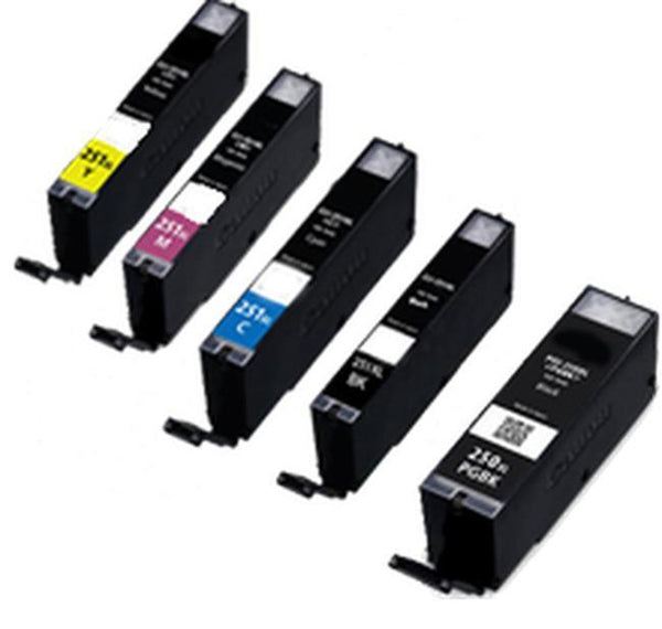 CANON PGI-250XL + CLI-251XL INK / INKJET High Yield Cartridge Set BK/Photo BK/C/Y/M-Ink Toner Shop