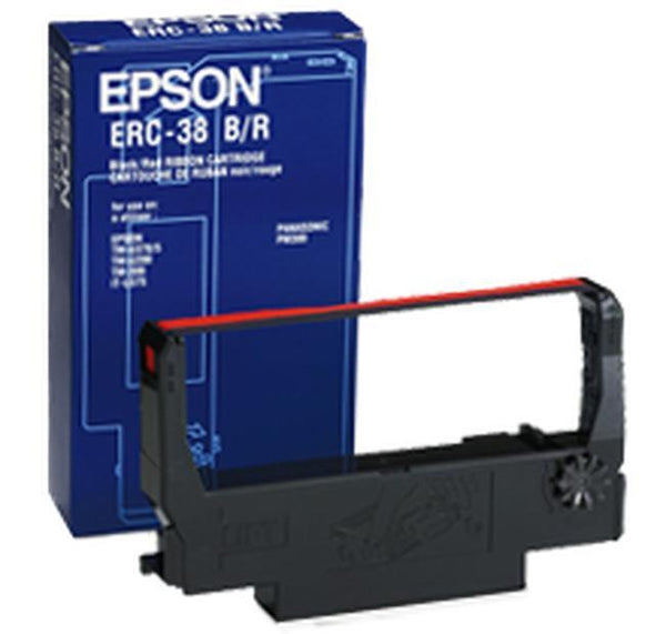Brand New Original EPSON ERC38BR Ribbon Cartridge Black / Red-Ink Toner Shop