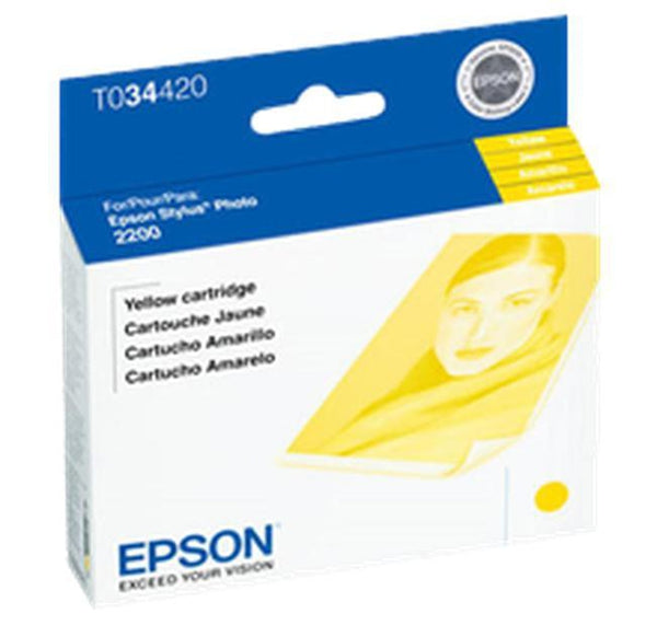 Brand New Original EPSON T034420 INK / INKJET Cartridge Yellow-Ink Toner Shop