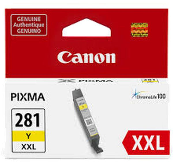 Brand New Original OEM-CANON 1982C001 (PGI-281XXL) Super High Yield INK / INKJET Cartridge Yellow-Ink Toner Shop