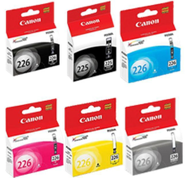 Brand New Original CANON PGI-225 / CLI-226 INK / INKJET Cartridge Set Black x2 /C/Y/M/GRAY-Ink Toner Shop