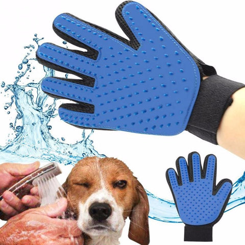 True Touch -gant de toilettage pour chien ou chat