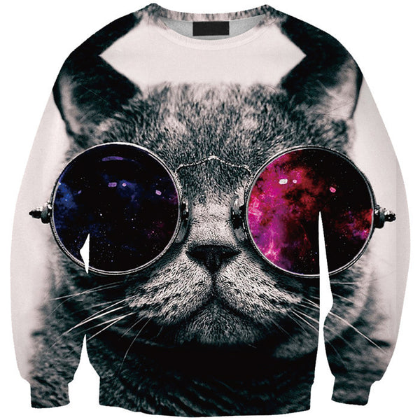 3D Cat Printed Sweatshirts