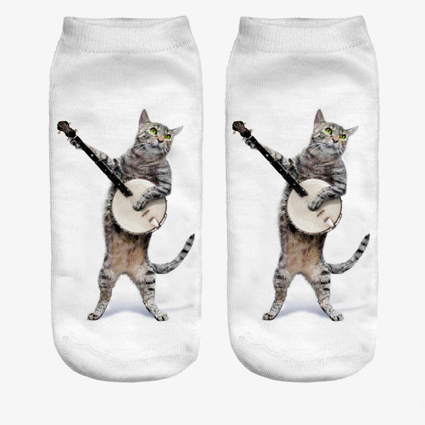 Funky Cat Ankle Socks