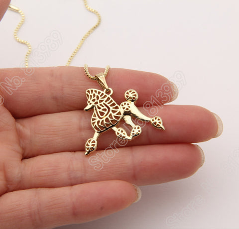 3D Poodle Movement Necklace