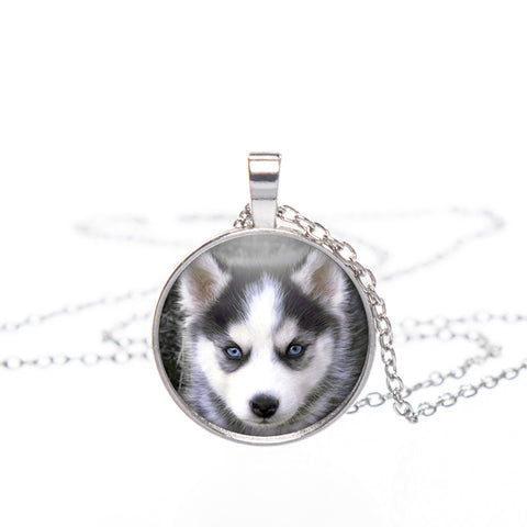 3D Husky Pendant Necklace
