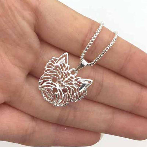 3D Yorkshire Terrier Necklace