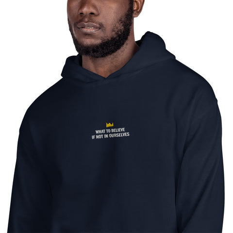 What To Believe Embroidered Hoodie