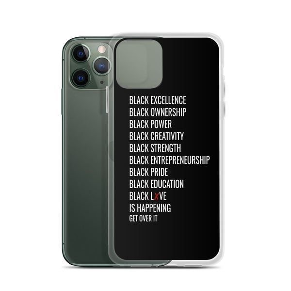 All Black Everything iPhone Case