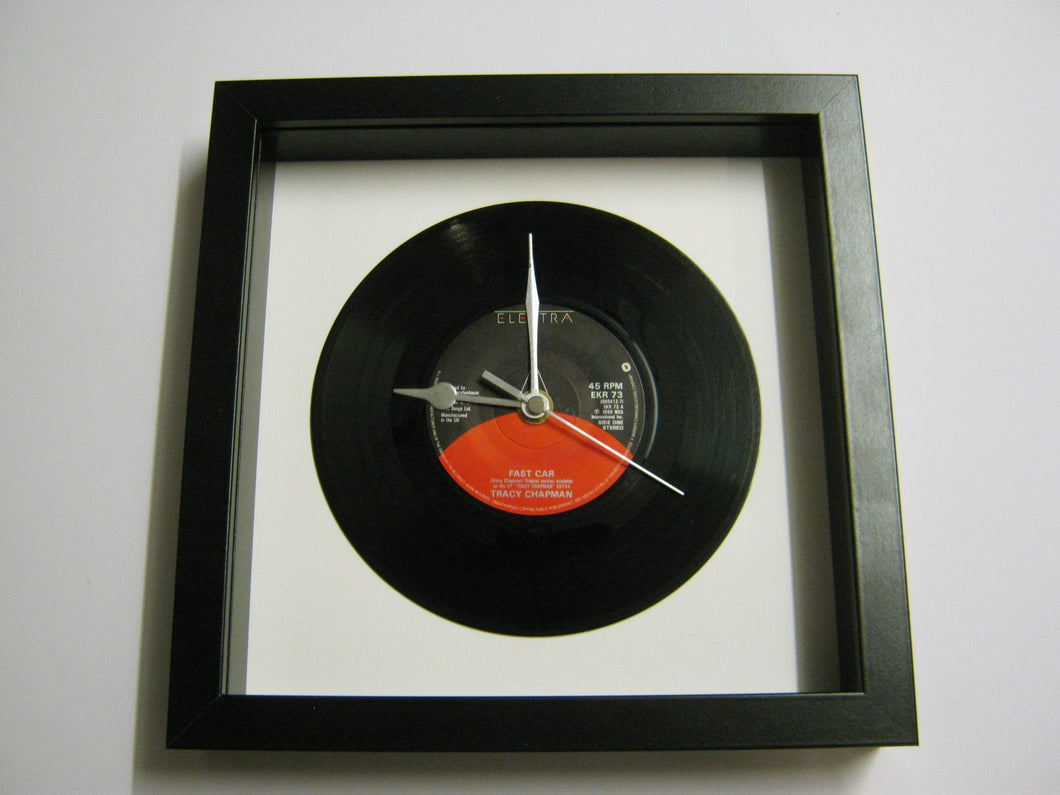 Tracy Chapman Fast Car Vinyl Record Framed Clock - Fast car tra