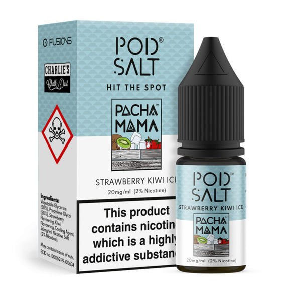 Pod Salt Fusions - Nic Salt - Pacha Mama Strawberry Kiwi Ice