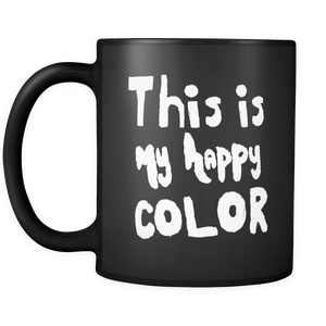 Happy by Megan Black Mug