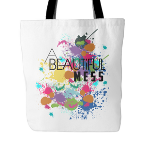 A Beautiful Mess White Tote