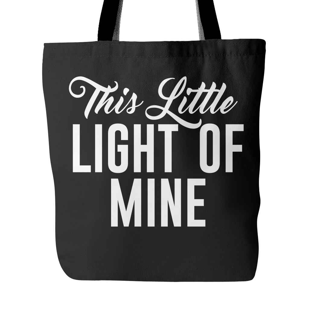This Little Light of Mine Black Tote