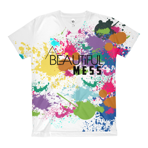 A Beautiful Mess Women's V-Neck T-Shirt