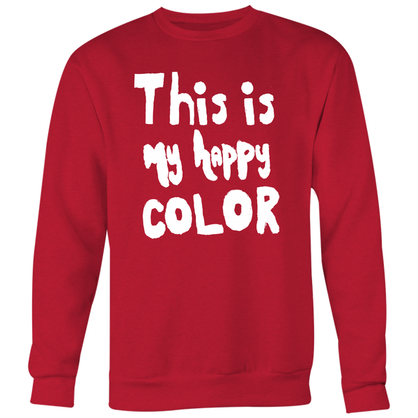 Happy by Meagan Men's Crewneck Unisex Sweatshirt