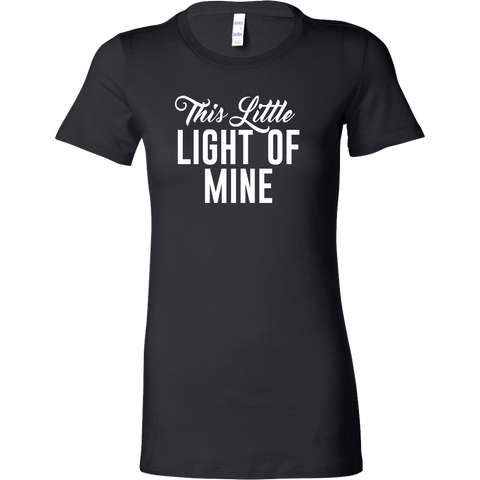 This Little Light of Mine Bella Women's Tee (White)