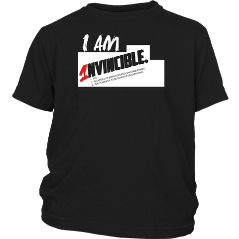 I Am Invincible Youth Tee