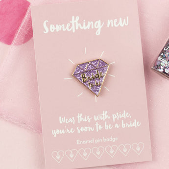 'Bride To Be' Glitter Pink Diamond Enamel Pin