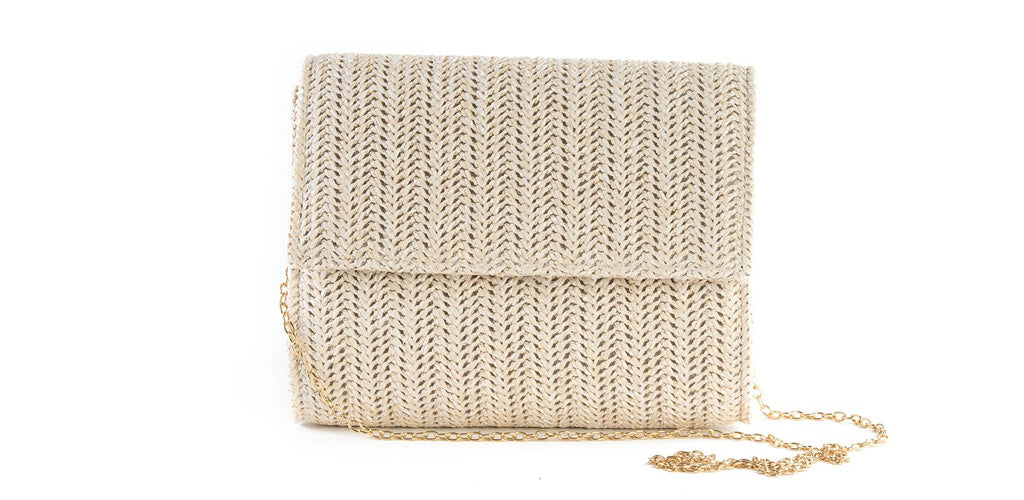 Straw Wedding Clutch