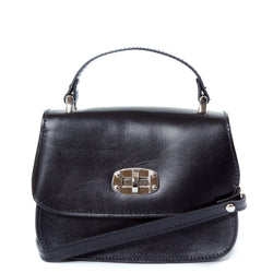 Black Real Leather Satchel Bag