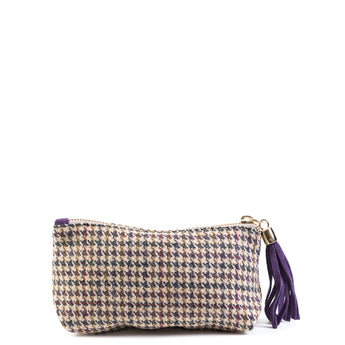 Purple Yorkshire Tweed Cosmetic Bag