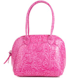 Florens Magenta Pink Real Leather Shoulder Tote Bag