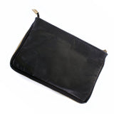 Real Leather & Cow Hair Clutch Bag - Back - Amilu