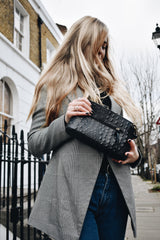 Black Croc Print Real Leather Cross Body Bag - Lifestyle - Amilu