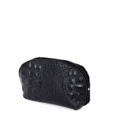 Black Croc Real Leather Mini Clutch Bag - Side - Amilu