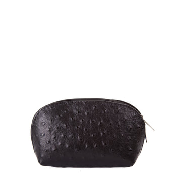 Black Real Leather Mini Clutch Bag - Amilu