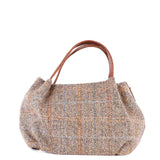 Tan Hamish Harris Tweed Mini Tote Bag - Amilu