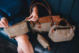 Tan Hamish Harris Tweed Mini Tote Bag - Lifestyle - Amilu