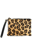 Leopard Cow Hair and Real Leather Tassel Clutch Bag - Amilu